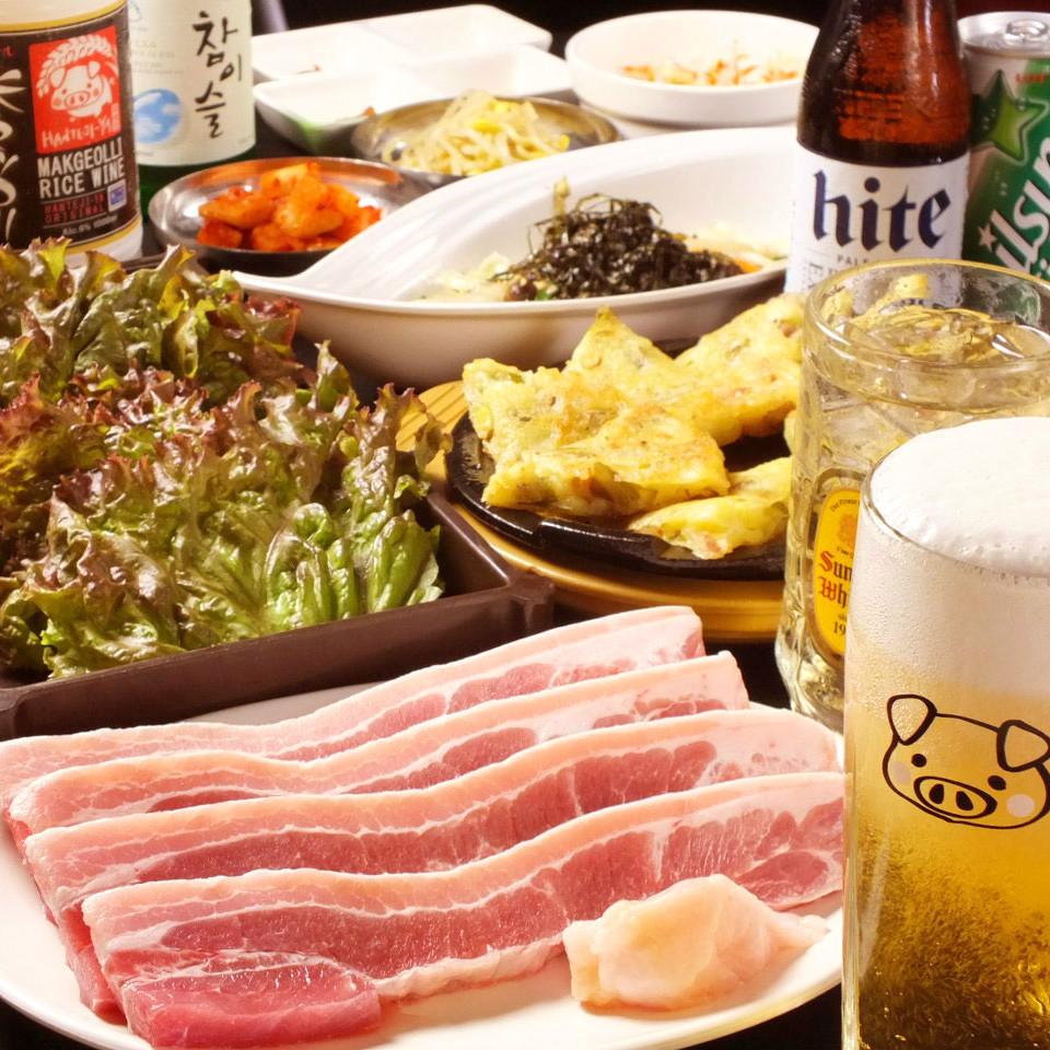 サムギョプサル食べ放題コース【8品】飲み放題込