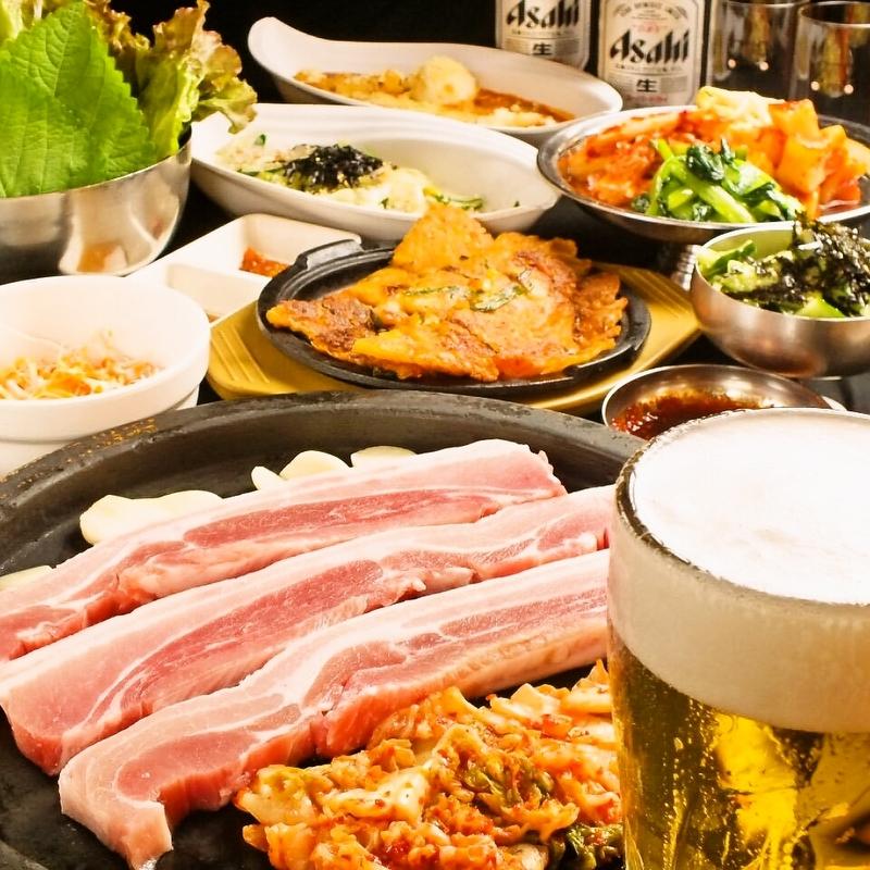 溶岩石焼肉・韓国料理食べ放題コース【35品】飲み放題込